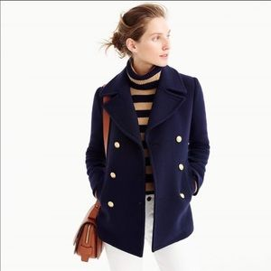 J. Crew Majesty Peacoat Stadium Cloth Wool Blend